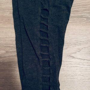 Betsey Johnson Capri Leggings with Cutouts - Small